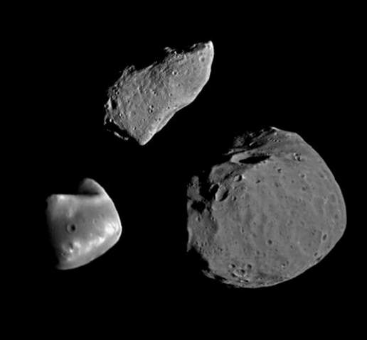 Phobos, Deimos, Gaspra